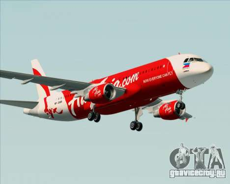 Airbus A320-200 Air Asia Philippines для GTA San Andreas колёса