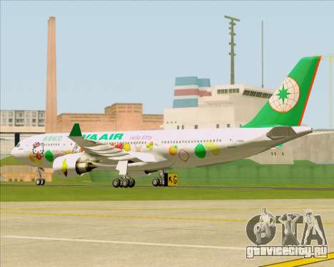 Airbus A330-200 EVA Air (Hello Kitty) для GTA San Andreas вид сзади