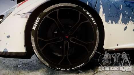 McLaren 650S Spider 2014 [EPM] v2.0 UK для GTA 4 вид сзади
