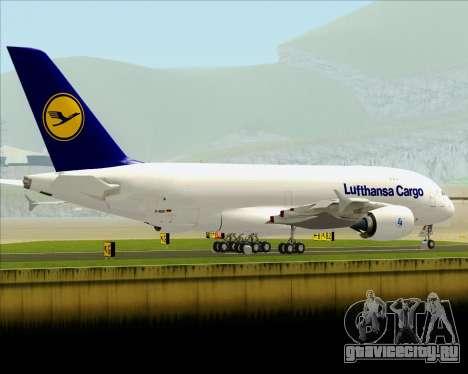 Airbus A380-800F Lufthansa Cargo для GTA San Andreas вид сбоку