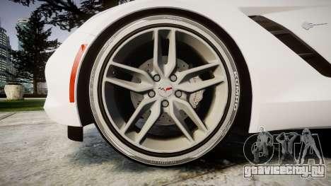 Chevrolet Corvette C7 Stingray 2014 v2.0 TireKHU для GTA 4 вид сзади