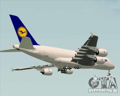 Airbus A380-800F Lufthansa Cargo для GTA San Andreas вид снизу