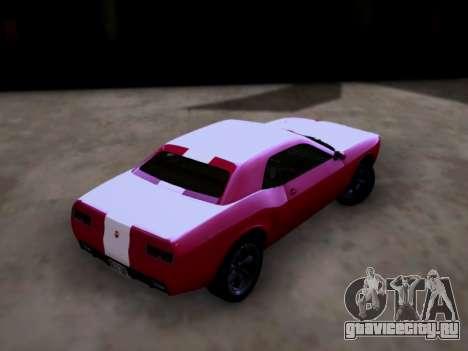 Bravado Gauntlet GTA 5 для GTA San Andreas вид слева