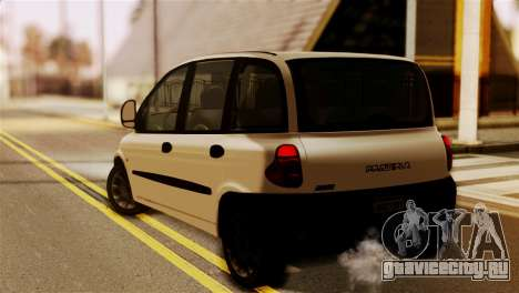 Fiat Multipla Black Bumpers для GTA San Andreas вид слева