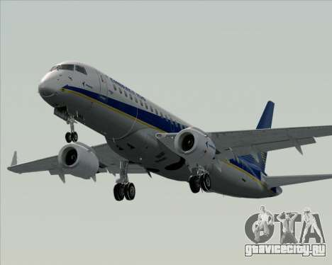 Embraer E-190-200LR House Livery для GTA San Andreas вид снизу