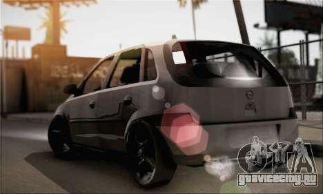 Opel Corsa 5-Doors для GTA San Andreas вид слева