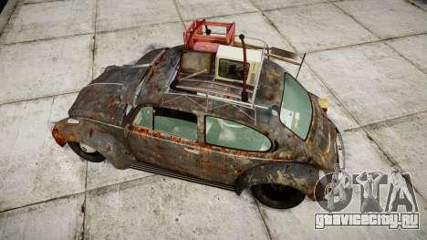 Volkswagen Beetle rust для GTA 4 вид справа