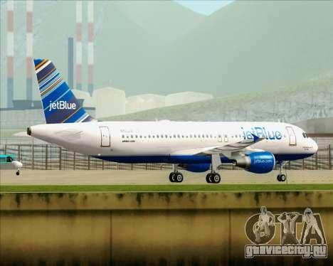 Airbus A320-200 JetBlue Airways для GTA San Andreas колёса