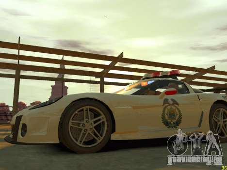 Chevrolet Corvette Z06 Police для GTA 4 вид сбоку