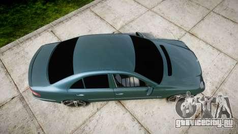Mercedes-Benz W211 E55 AMG Vossen VVS CV5 для GTA 4 вид справа