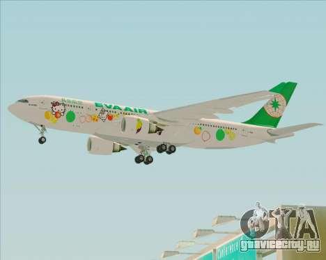 Airbus A330-200 EVA Air (Hello Kitty) для GTA San Andreas вид сзади слева