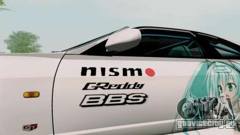 Nissan Skyline GT-R33 для GTA San Andreas вид сбоку