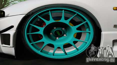 Nissan Skyline GT-R33 для GTA San Andreas вид изнутри
