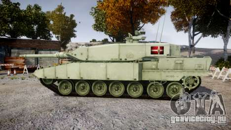 Leopard 2A7 DK Green для GTA 4 вид слева