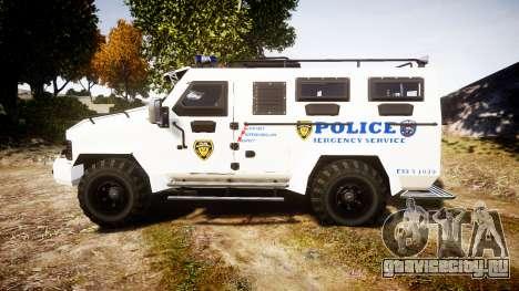 SWAT Van Police Emergency Service для GTA 4 вид слева