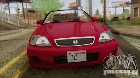 Honda Civic 2000 для GTA San Andreas вид сзади слева