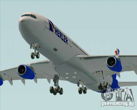 Airbus A340-300 Air Herler для GTA San Andreas двигатель