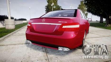 Mercedes-Benz E63 AMG для GTA 4 вид сзади слева