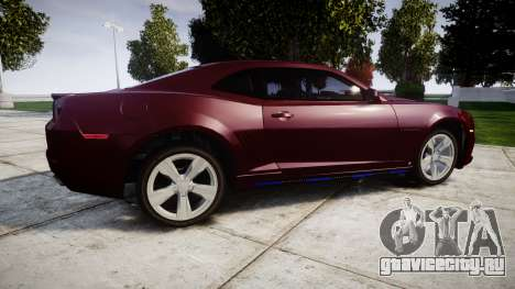 Chevrolet Camaro SS [ELS] Unmarked runners для GTA 4 вид слева