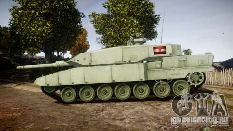 Leopard 2A7 AT Green для GTA 4 вид слева