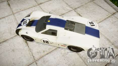 Ford GT40 Mark IV 1967 PJ 18 для GTA 4 вид справа
