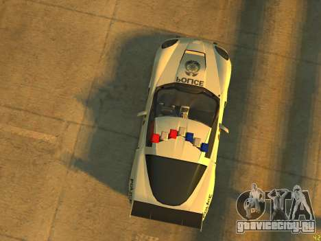 Chevrolet Corvette Z06 Police для GTA 4 вид сзади