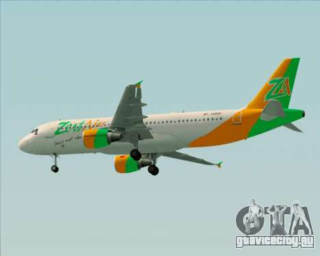 Airbus A320-200 Zest Air для GTA San Andreas вид сзади