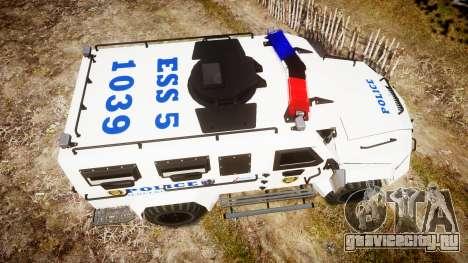 SWAT Van Police Emergency Service для GTA 4 вид справа