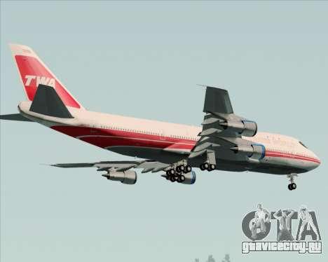 Boeing 747-100 Trans World Airlines (TWA) для GTA San Andreas колёса