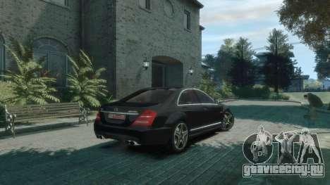 Mercedes-Benz W221 S63 AMG для GTA 4 вид сзади слева