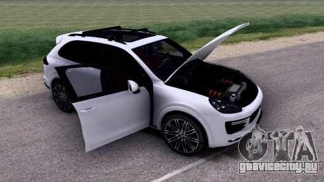 Porsche Cayenne Turbo S GTS 2015 для GTA San Andreas вид изнутри