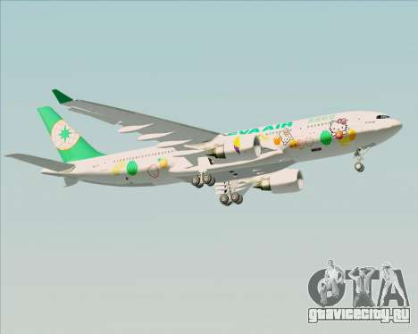 Airbus A330-200 EVA Air (Hello Kitty) для GTA San Andreas вид снизу