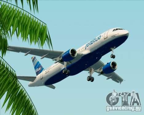 Airbus A320-200 JetBlue Airways для GTA San Andreas вид изнутри
