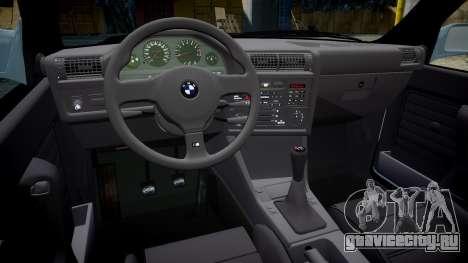 BMW M3 E30 1991 [EPM] для GTA 4 вид изнутри