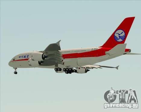 Airbus A380-800 Sichuan Airlines для GTA San Andreas вид сбоку