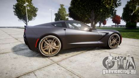Chevrolet Corvette C7 Stingray 2014 v2.0 TireBr3 для GTA 4 вид слева
