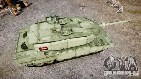 Leopard 2A7 DK Green для GTA 4 вид справа