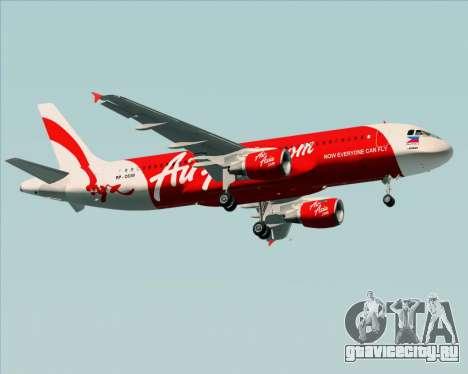 Airbus A320-200 Air Asia Philippines для GTA San Andreas вид сбоку