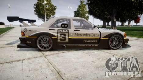 Mercedes-Benz 190E Evo II GT3 PJ 4 для GTA 4 вид слева