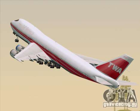 Boeing 747-100 Trans World Airlines (TWA) для GTA San Andreas