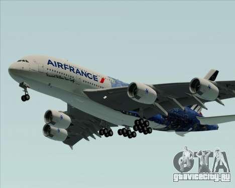 Airbus A380-800 Air France для GTA San Andreas вид сзади