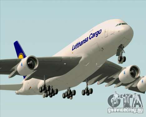 Airbus A380-800F Lufthansa Cargo для GTA San Andreas двигатель