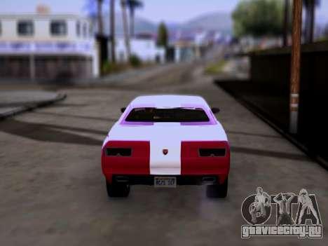 Bravado Gauntlet GTA 5 для GTA San Andreas вид сзади слева