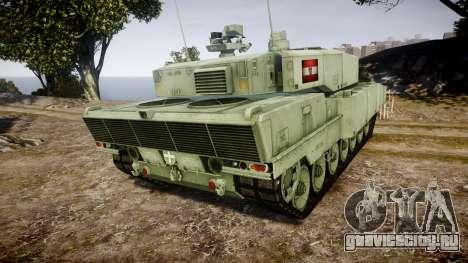 Leopard 2A7 AT Green для GTA 4 вид сзади слева