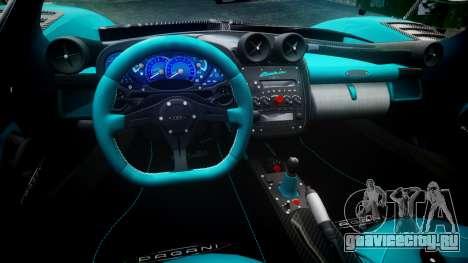 Pagani Zonda Uno для GTA 4 вид сзади