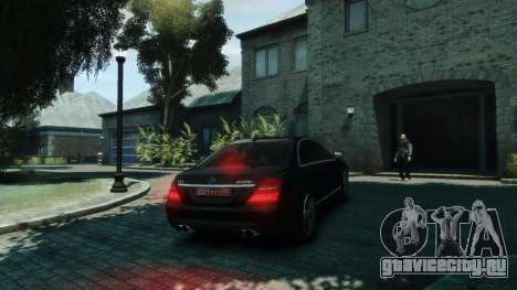 Mercedes-Benz W221 S63 AMG для GTA 4 вид справа