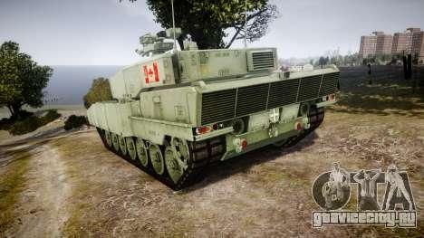 Leopard 2A7 CA Green для GTA 4 вид сзади слева
