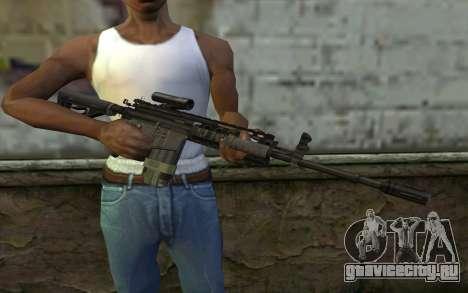 M4A1 from COD Modern Warfare 3 v2 для GTA San Andreas третий скриншот