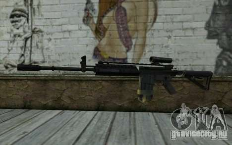 M4A1 from COD Modern Warfare 3 v2 для GTA San Andreas