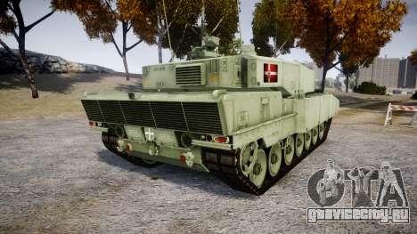 Leopard 2A7 DK Green для GTA 4 вид сзади слева